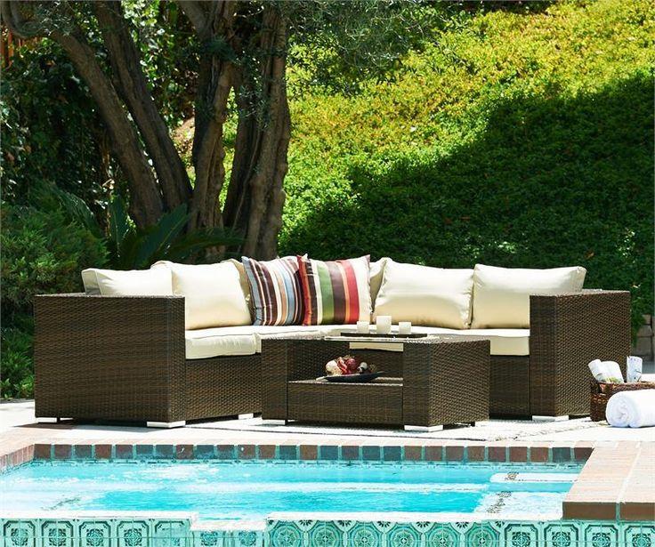 Thy Hom Kressler 4 Piece Outdoor Furniture Sectional Set
