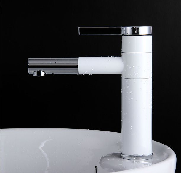 2016 new  wholesale sale Luxury Basin Faucets. brass chrome white basin faucet basin mixer tap water tap,tall basin taps hotels-in Basin Faucets from Home Improvement on Aliexpress.com | Alibaba Group