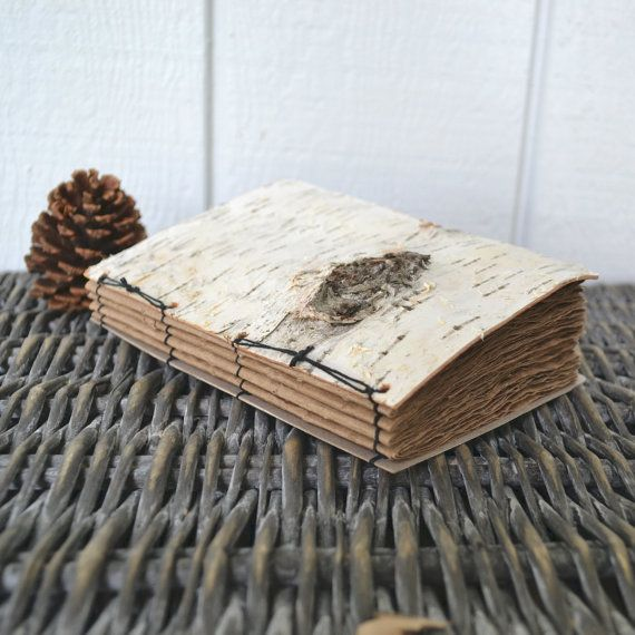 Birch Bark, Upcycled, Recycled Nature Journal. ~SOLD~