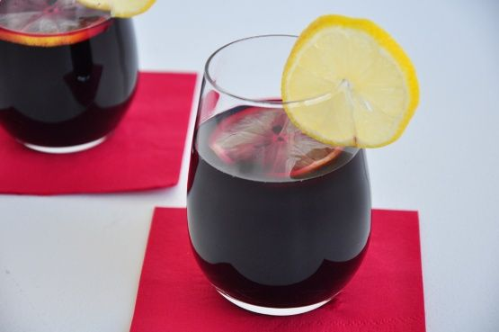 This is the recipe given to me by a bartender at Carrabbas Italian Restaurant for their famous Blackberry Sangria. Goes down very easily, so be careful!