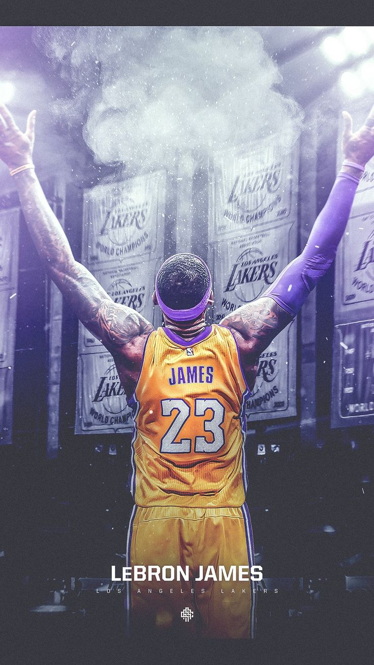 LeBron James LA Lakers HD Wallpaper For iPhone
