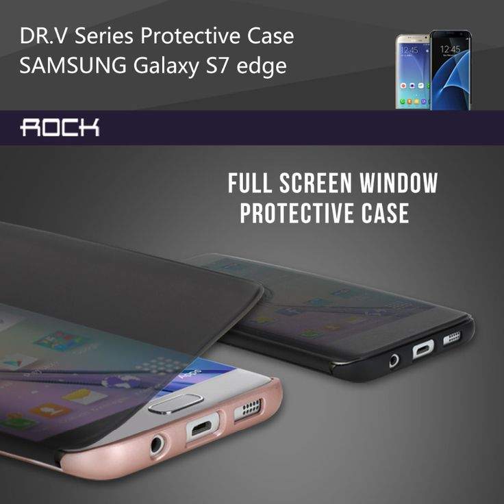 For samsung galaxy s7 s7 edge Flip case Rock Dr.V invisible full window smart Protective Case for galaxy s 7 edge phone cover. Price is only $15.99