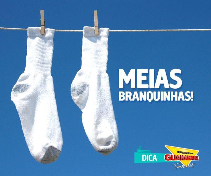 Meias branquinhas — Supermercados Guanabara