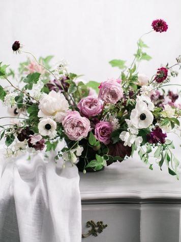 sinclair and moore purple floral arrangement