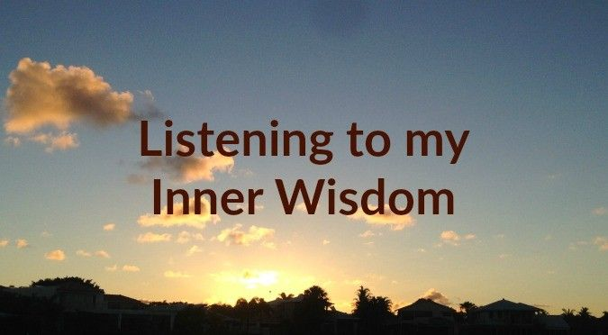 On Monday, the 23rd of January, I had the perfect opportunity to practice tapping into my Inner Wisdom. This is what I've been studying since September... Recovering Wholeness Blog