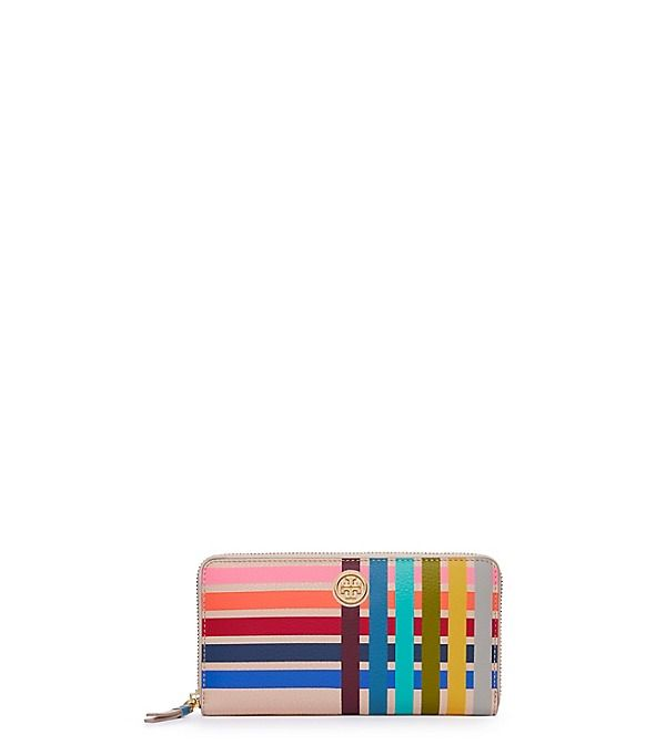 Tory Burch Multi-color Multi-gusset Zip Continental Wallet