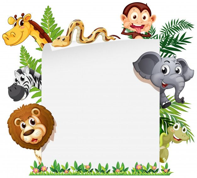 Download Wild Animal On Note Template For Free Animals Wild Notes Template Jungle Animals Pictures