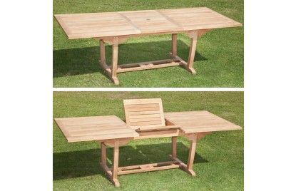 Rectangle Extending Table 180 - 240   Woodbury House Furniture  I want this for my deck! I like teak.