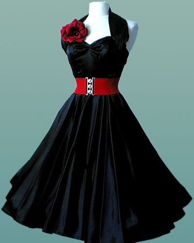 again, a girl cant have to many black dresses, but this one has a splash of color!