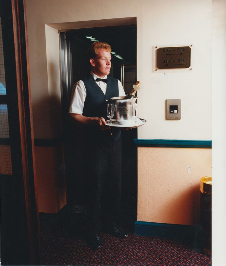 James Mannion, our longest serving member of staff, pictured serving the first guests to the hotel!