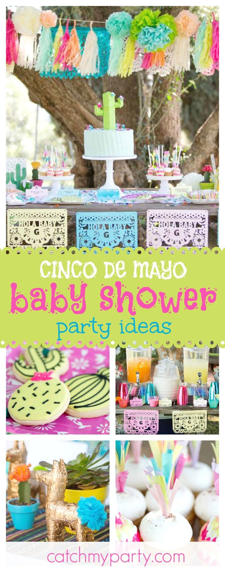 Celebrate Cinco de Mayo with an incredible mexican garden party. The cake is amazing!! See more party ideas and share yours at CatchMyParty.com