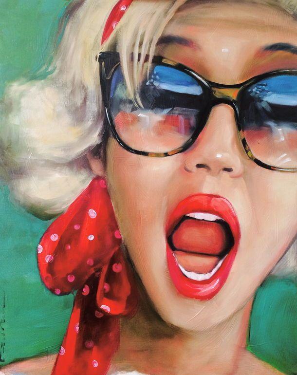 "Saatchi Art Artist: Pascale Taurua; Oil 2014 Painting ""the 50ties"""