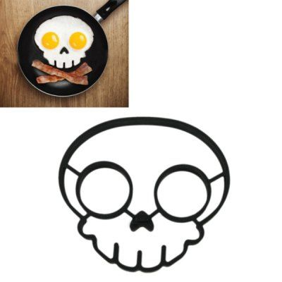 Cool Skull Shape Silicone Egg Frying Mould Frying Pancake Mold Breakfast Mould Creative Kitchen Supplies for DIY Present