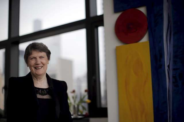 Helen Clark, former Prime Minister of New Zealand and current Administrator of the United Nations Development Program, speaks during an interview in New York