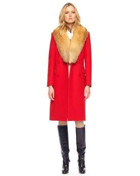 A lil warm for fur but gorgeous stillPants Cans T Wait, Knits Shells, Melton Wool, 3Xvb Michael, Michael Kors, Lil Warm, Riding Pants Cans T, Wool Coats, Kors Melton