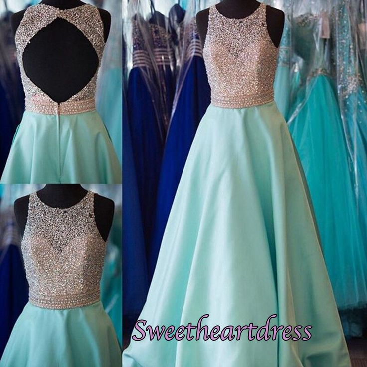 2016 beautiful blue satin long sequins prom dress, homecoming dress, occasion dress for teens #coniefox #2016prom
