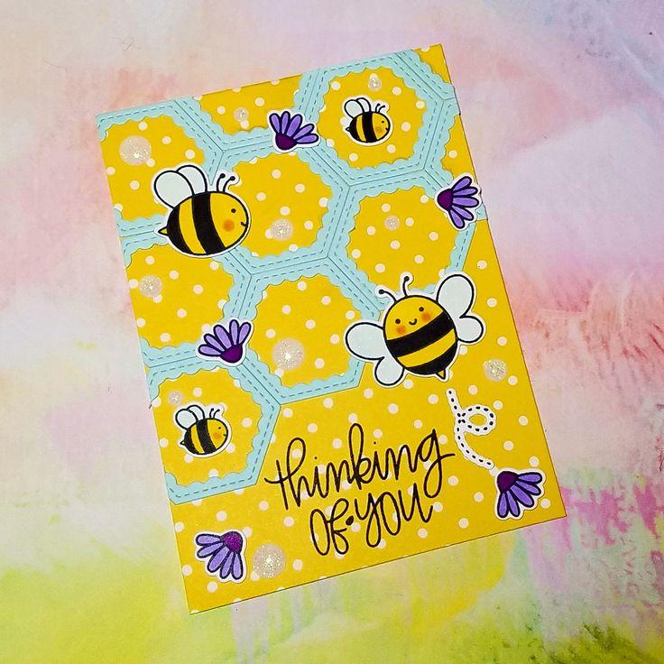 Corilyn's Creations: Bee-lated birthday #prettypinkposh #lawnfawn