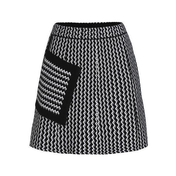 Chevron Patch Pocket A Line Skirt (19 AUD) ❤ liked on Polyvore featuring skirts, knee length a line skirt, chevron skirts, chevron striped skirt, a-line skirts and chevron print skirt