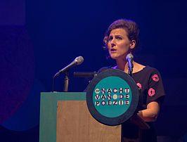 Ester Naomi Perquin bij de 33e Nacht van de Poëzie, 2015