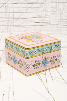 Pink Painted Jewellery Box