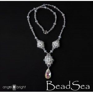 Art déco necklace - Swarovski Crystal  and pearls