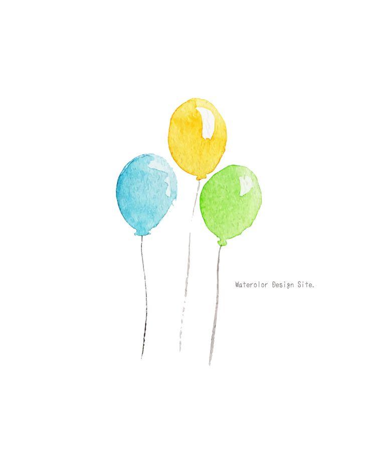 絵本の一コマのような可愛らしい風船イラスト 名刺やはがきの端にちょこっとあるとかわいらしいと思います。水玉柄と…