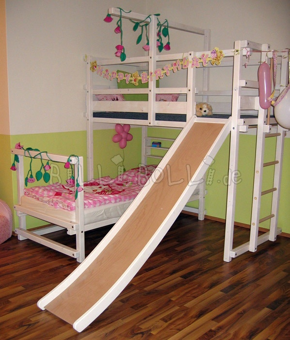 Corner Bunk Bed - NO SLIDE!
