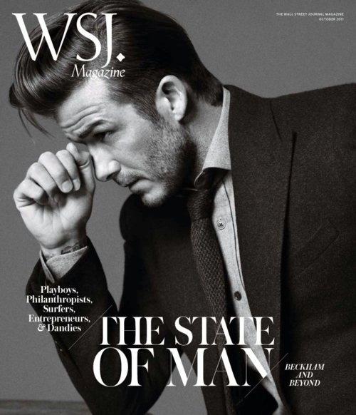 David Beckham on cover of WSJ. Black & White #photography