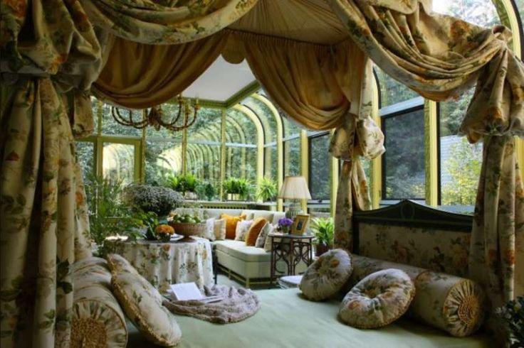 Giardini d'inverno - Giardino d'inverno, arredamento stile classico