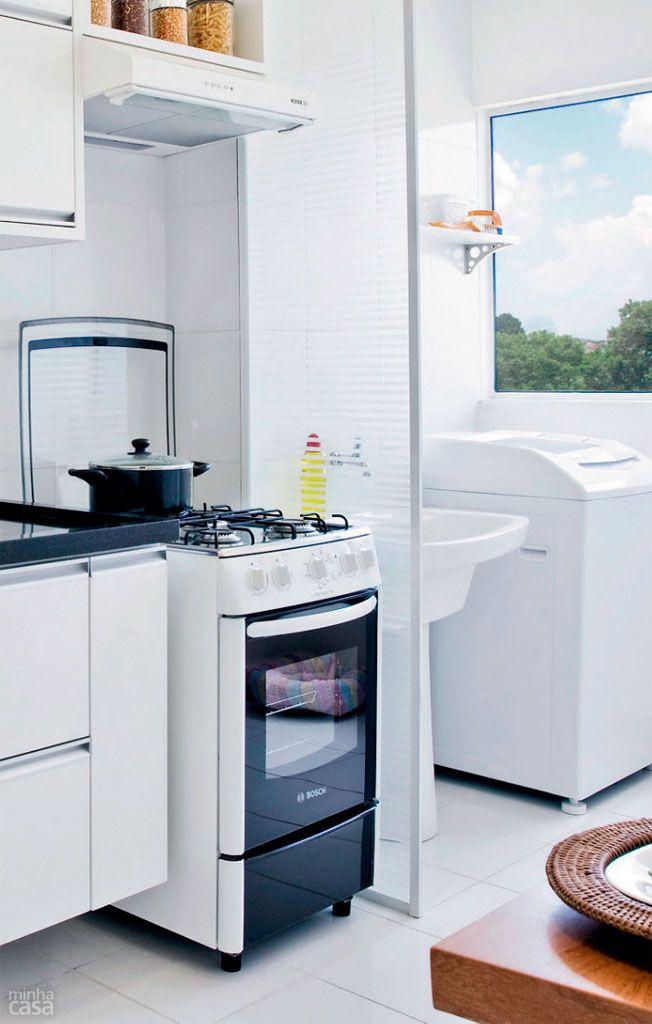 Qual material usar na divisória entre cozinha e área de serviço?