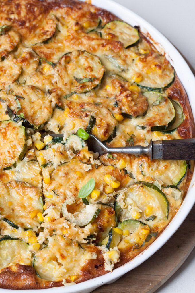 Zucchini-Mais-Quiche ohne Boden - kochkarussell.com