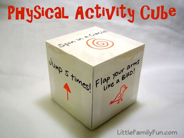 Get the wiggles out with this fun exercise cube game! Great for toddlers or preschool.