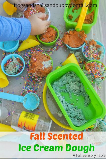 Fall Scented  Ice Cream Dough {apple and pumpkin spice}  Sensory  Play by FSPDT