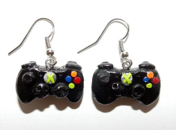 Gamer  Earrings by SplatterPalette on Etsy, $12.00