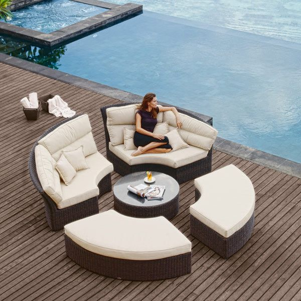 2017 hot sale New arrival luxury wicker used contemporary hotel patio furniture for sale