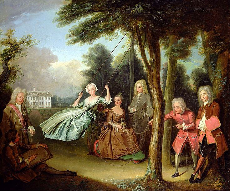 Philip Mercier    The Belton conversation piece, showing Lord Tyrconnel (on the left) with his family in the grounds of Belton House    The Belton Conversation Piece by Philippe Mercier was one of the first 'conversation pieces' (informal group portrait)  to be painted in England.