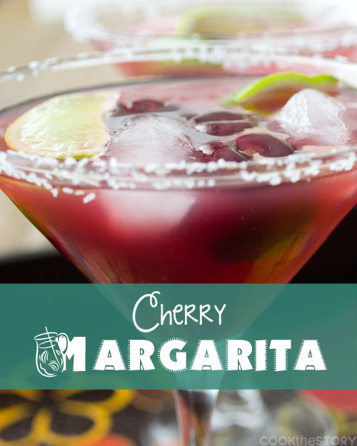 A delicious Margarita Recipe: A Cherry-Lime Margarita with Salt by www.cookthestory.com #margarita #drink #recipe