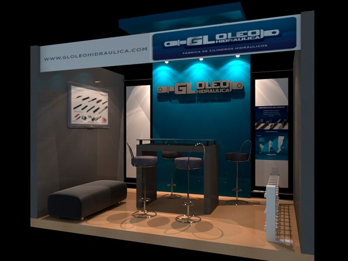 GL Oleohidráulica Diseño de stand para exposición