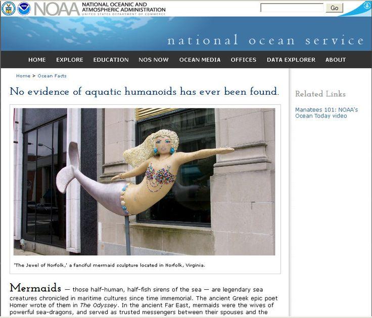 NOAA Nixes Mermaid Theories — No More Pressing Matters -- http://commonsenseconspiracy.com/2012/07/noaa-nixes-mermaid-theories-no-more-pressing-matters/