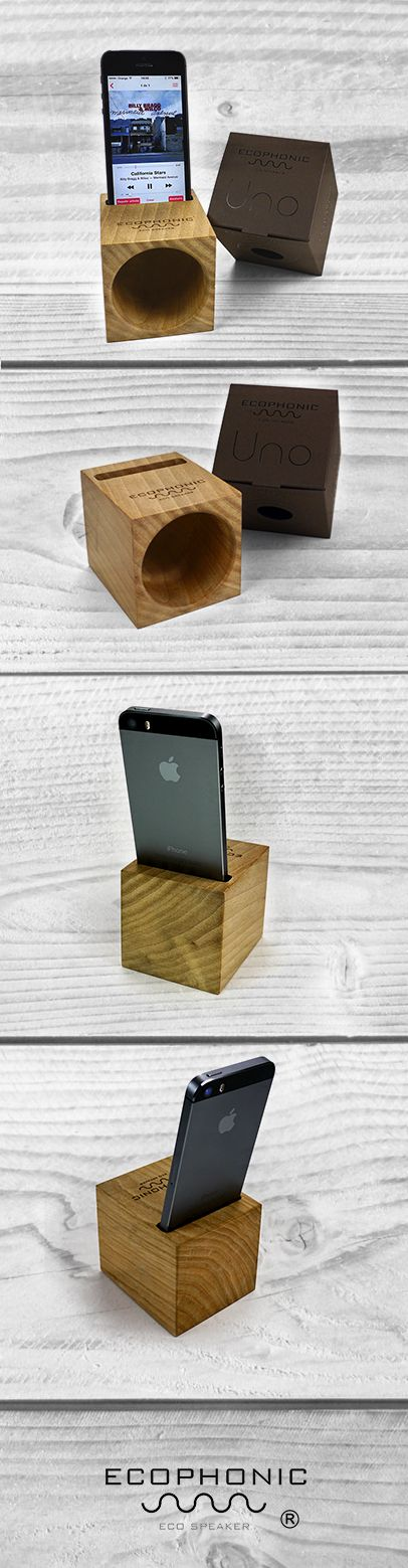 Wooden #EcoSpeaker for iPhone Original design | Spain