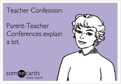 Teacher eCard - Parent-teacher conferences