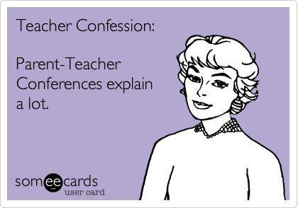 Teacher eCard - Parent-teacher conferences