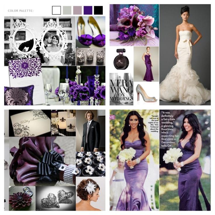 Black White Purple Wedding Bold But Glamorous