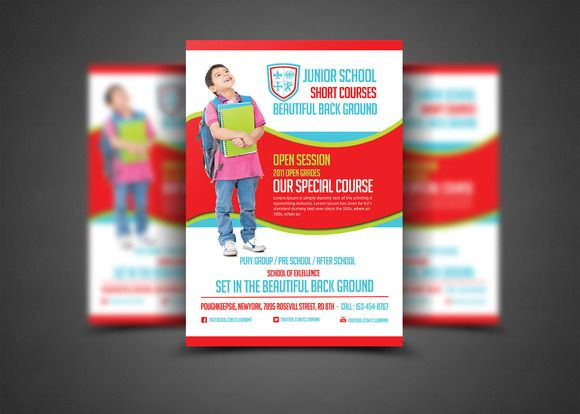 Education Flyer Print Templates by AfzaalGraphics on @creativemarket