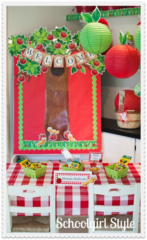 25 best ideas about apple theme classroom on pinterest for Apple decoration ideas