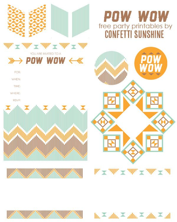 Confetti Sunshine: Pow Wow