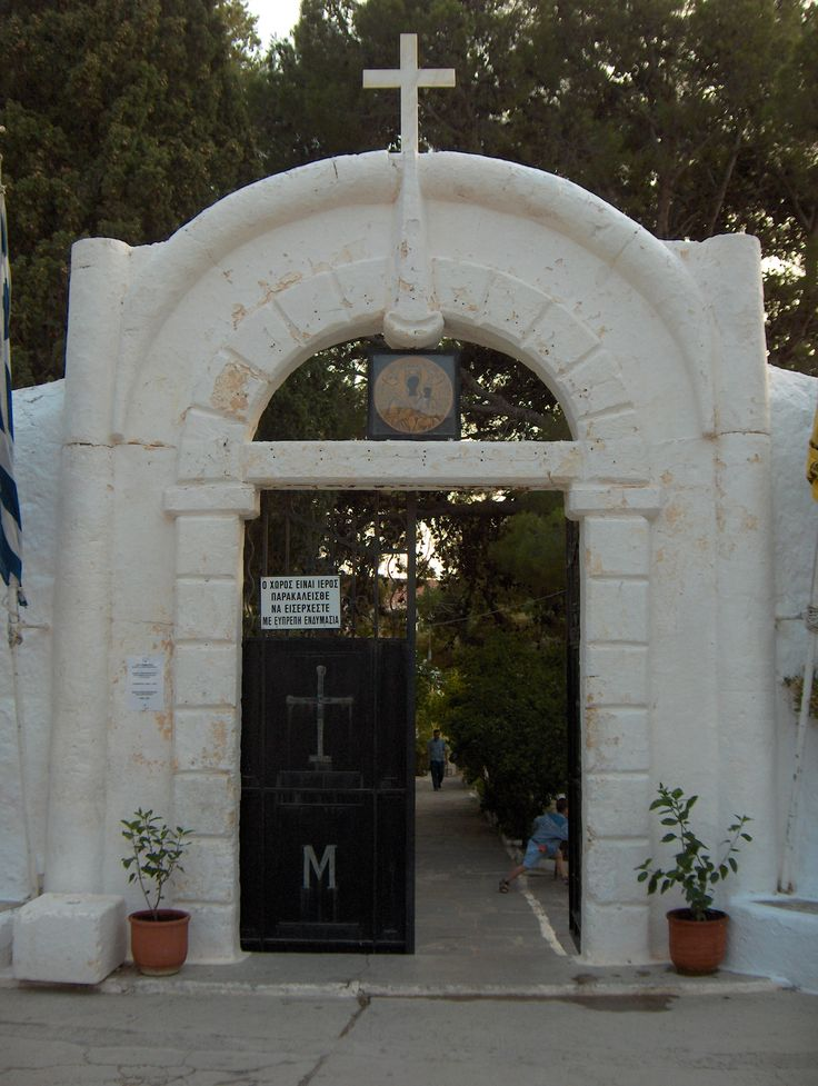 The gates of Myrtidia Monastery, Kythera