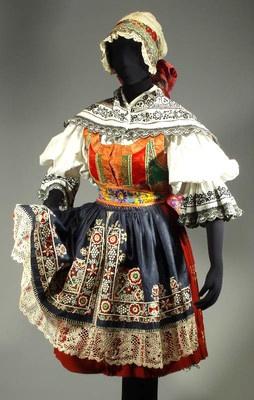 RARE Antique Czech Folk Costume Kyjov Moravia Embroidered Blouse Apron Skirt | eBay