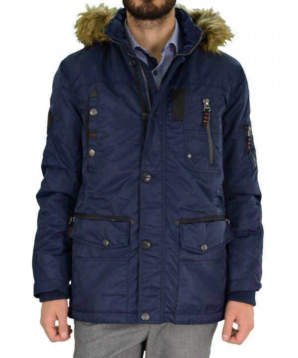 Ανδρικό μπουφάν Jacket Inox μπλε 16541F #χειμωνιατικαμπουφαναντρικα #εκπτωσεις #προσφορες #menjacket