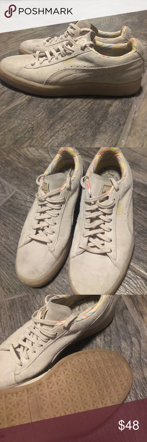 Beige suede Pumas Suede tan Pumas! Really cute but too big for me! . Womens 6.5 Puma Shoes Sneakers